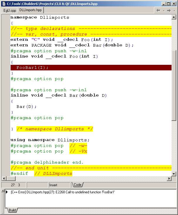 Problems with Programming Qt from C++Builder 6 CLX Applications