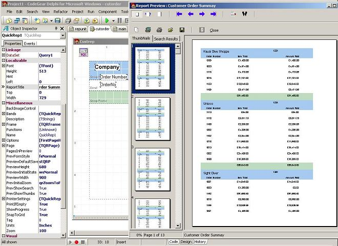 Delphi 2007/QuickReport v5 Exporting to Excel and PDF programmatically