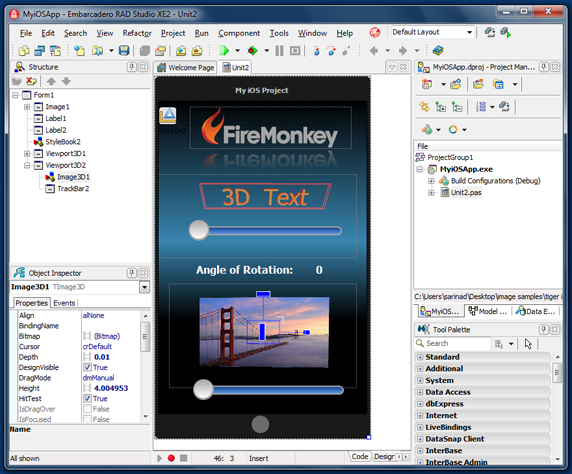 How to build a FireMonkey iOS Application
