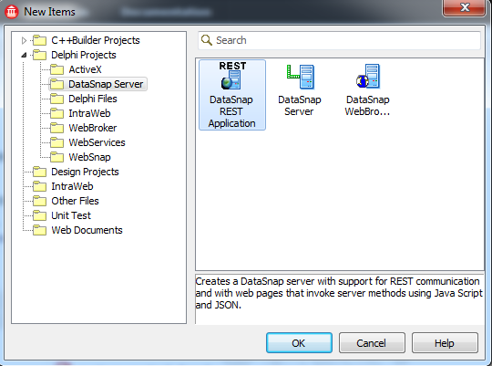 Delphi XE2 Boilerplate DataSnap Server and jQueryMobile Client